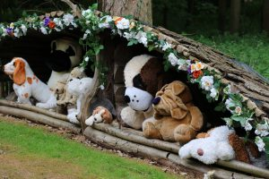teddy bear parade around the track audley end miniature railway