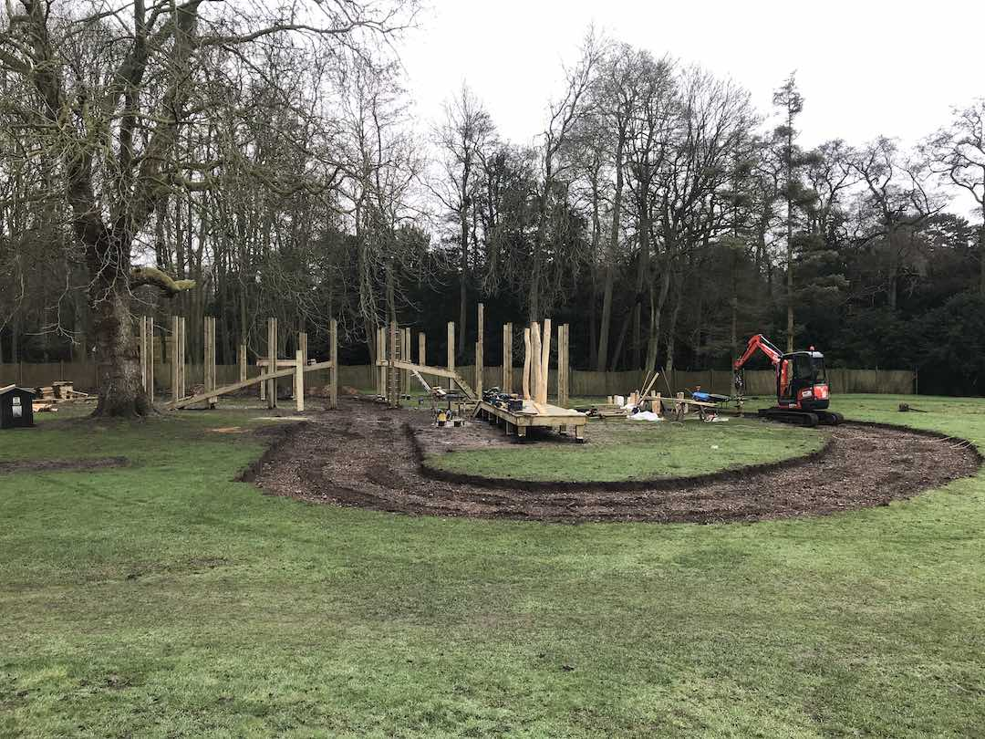 brand new play area at audley end miniature railway
