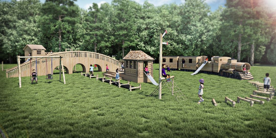 new play area at the audley end miniature railway