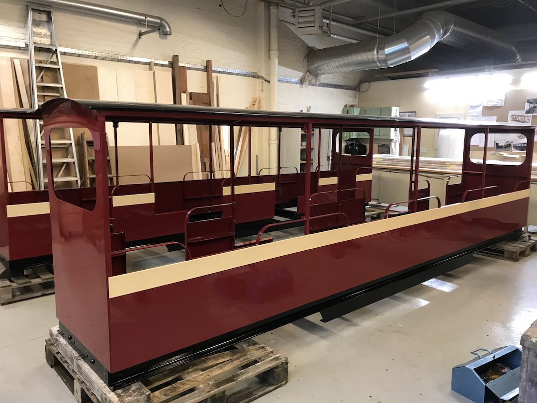 brand new carriages for the audley end miniature railway