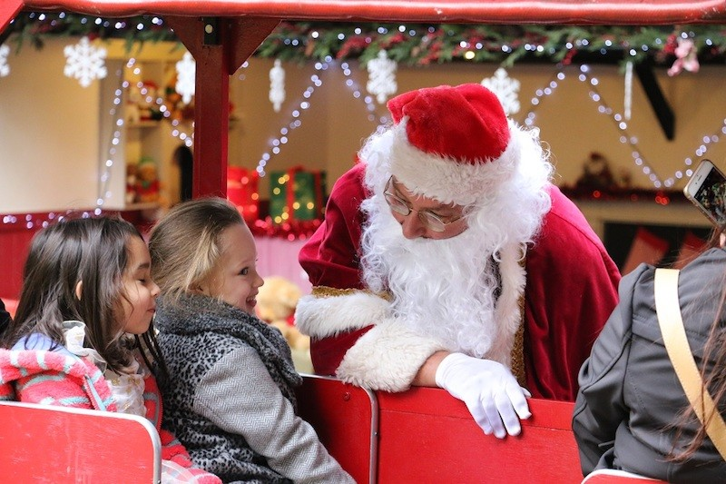 father-christmas-meets-a-girl-on-the-audley-end-miniature-railway