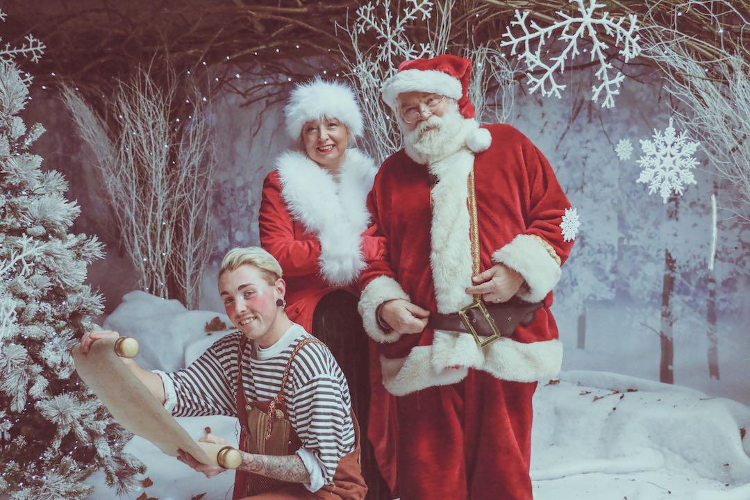 Mother Christmas.Father Christmas And Mother Christmas Audley End Miniature
