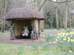 easter bunny at the audley end miniature railway essex