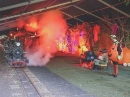 halloween train rides in cambridge for children
