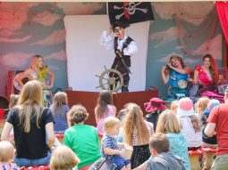 stage performances at the audley end miniature railway mermaid and pirate festival