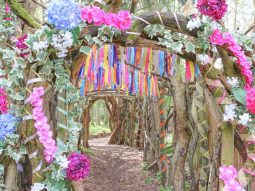 fairy trail entrance at audley end miniature railway