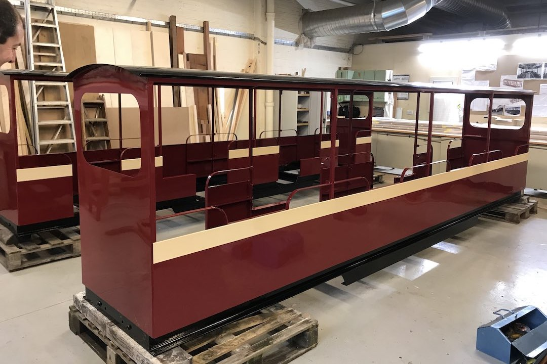 new train carriages for the audley end miniature railway small