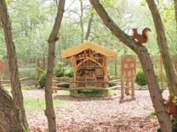 bug hotel in nature corner audley end miniature railway
